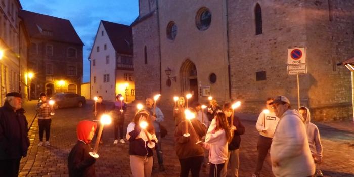 Die Zeitreise der Klasse 7a ins Mittelalter